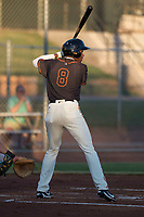 AZL Giants Black right fielder Kwan Adkins (8) at bat during an Arizona League game against the AZL Athletics at the San Francisco Giants Training Complex on June 19, 2018 in Scottsdale, Arizona. AZL Athletics defeated AZL Giants Black 8-3. (Zachary Lucy/Four Seam Images)