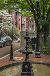 sPRINGTIME in the South End neighborhood, Boston, Massachusetts, USA