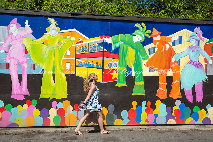 Fredericksted<br /> Wall mural<br /> St. Croix<br /> US Virgin Islands