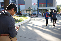 Pokemon Go players in Montreal, Canada, August 23, 2O16<br /> <br /> Photo by Pierre Roussel - Agence Quebec Presse