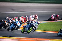 VALENCIA, SPAIN - NOVEMBER 8: Lorenzo Dalla Porta during Valencia MotoGP 2015 at Ricardo Tormo Circuit on November 8, 2015 in Valencia, Spain