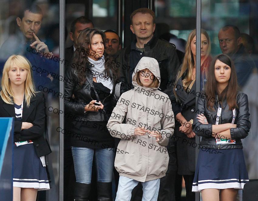 Tenis, Serbia Open 2011.Final.Novak Djokovic (SRB) Vs. Feliciano Lopez (ESP).Dragan Djilas with wife and daughter .Beograd, 01.05.2011..foto: Srdjan Stevanovic