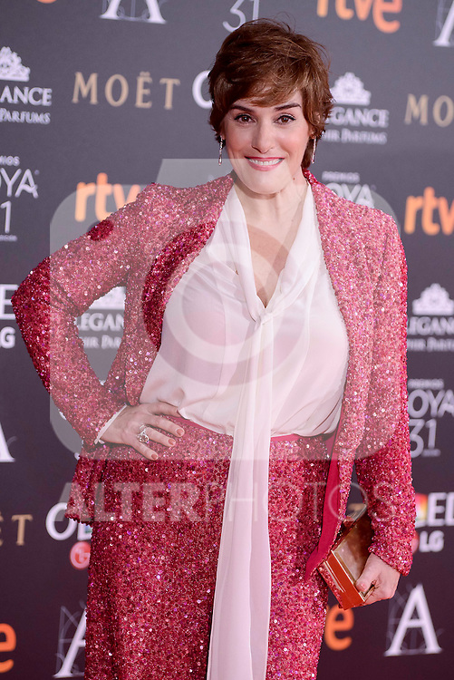 Anabel Alonso attends to the Red Carpet of the Goya Awards 2017 at Madrid Marriott Auditorium Hotel in Madrid, Spain. February 04, 2017. (ALTERPHOTOS/BorjaB.Hojas)
