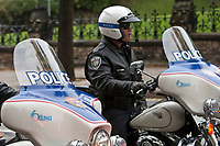 Ottawa Police motorcycle is seen during a police memorial parade in Ottawa Sunday September 26, 2010.