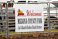 HONDO, TX - SEPTEMBER 15, 2007: The Medina County Fair Ranch Rodeo held at the Medina County Fairgrounds in Hondo, Texas. (Photo by Jeff Huehn)