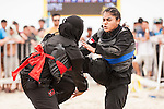SHAHRUDIN Nurhanishah (R) of Singapore in action during the Pencak Silat Women's competition against Siti Zubaidah Che Omar of Malaysia on Day Eight of the 5th Asian Beach Games 2016 at Bien Dong Park on 01 October 2016, in Danang, Vietnam. Photo by Marcio Machado / Power Sport Images