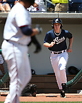 Reno Aces bat boy works a game against the Iowa Cubs at Greater Nevada Field in Reno, Nev., on Tuesday, May 17, 2016. <br />Photo by Cathleen Allison