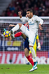 Carlos Henrique Casemiro of Real Madrid in action during the La Liga 2017-18 match between Atletico de Madrid and Real Madrid at Wanda Metropolitano  on November 18 2017 in Madrid, Spain. Photo by Diego Gonzalez / Power Sport Images