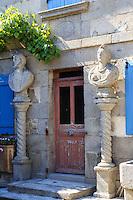 France, Creuse (23), Fransèches, Masgot, les sculptures de François Michaud et sa maison où il vécu // France, Creuse, Franseches, Masgot hamlet, sculptures by François Michaud and his house where he lived