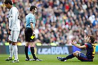 MADRI, ESPANHA, 02 MARÇO 2013 - CAMPEONATO ESPANHOL - REAL MADRID X BARCELONA - David Villa (D) jogador do Barcelona em partida contra o Real Madrid em partida pela 26 rodada do Campeonato Espanhol, neste sabado, 02. (FOTO: ALEX CID-FUENTES / ALFAQUI / BRAZIL PHOTO PRESS).