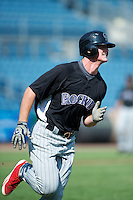 Cord Sandberg #17 of Manatee High School in Bradenton, Florida playing for the Colorado Rockies scout team during the East Coast Pro Showcase at Alliance Bank Stadium on August 1, 2012 in Syracuse, New York.  (Mike Janes/Four Seam Images)