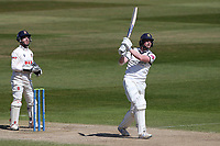 Rob Yates hits 6 runs for Warwickshire during Warwickshire CCC vs Essex CCC, LV Insurance County Championship Group 1 Cricket at Edgbaston Stadium on 25th April 2021