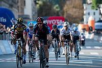 Adam Yates (GBR/Ineos Grenadiers) winning the sprint for 3rd ahead of Primoz Roglic (SVN/Jumbo-Visma)<br /> <br /> 115th Il Lombardia 2021 (1.UWT)<br /> One day race from Como to Bergamo (ITA/239km)<br /> <br /> ©kramon