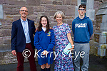Eimear O'Connor former Scoil Eoin Baiste student at her Confirmation in St Marys Church with her family in Dingle on Friday,  l to r:  Pat, Eimear, Theresa O'Connor and Bronán O'Connor
