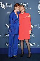 Jessie Buckley and Nicole Taylor<br /> arriving for the 2018 IWC Schaffhausen Gala Dinner in Honour of the BFI at the Electric Light Station, London<br /> <br /> ©Ash Knotek  D3437  09/10/2018