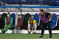 22nd July 2021; Stadium Yokohama, Yokohama, Japan; Tokyo 2020 Olympic Games, Brazil versus Germany; Brazil manager André Jardine watched the action on the field closely