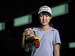 Red Bull Skate Roller Athlete 王姿茜 Una Wang poses during a photo session on December 07, 2015 in Taipei, Taiwan. Photo by Aitor Alcalde / Power Sport Images