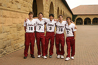 13 November 2006: Cameron Christoffers, Brandon Williams, Miki Groppi, John Ekins, and Jarod Keller on picture day in Stanford, CA.