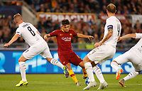Roma's Cengiz Under kicks the ball during the Champions League football match between Roma and Viktoria Plzen at Rome's Olympic stadium, October 2, 2018.<br /> UPDATE IMAGES PRESS/Riccardo De Luca
