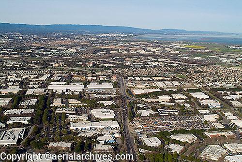 aerial photograph San Jose, Milpitas, Santa Clara county, California