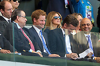 Prince Harry watches the game