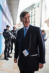 © Joel Goodman - 07973 332324 . 02/10/2017. Manchester, UK. JACOB REES-MOGG arrives at the conference . The second day of the Conservative Party Conference at the Manchester Central Convention Centre . Photo credit : Joel Goodman