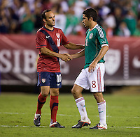 Landon Donovan, Israel Castro. The USMNT tied Mexico, 1-1, during their game at Lincoln Financial Field in Philadelphia, PA.
