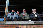 Forfar Athletic 1 Edinburgh City 2, 02/02/2017. Station Park, SPFL League 2. A group of elderly supporters watching on from the main stand at Station Park, Forfar before the SPFL League 2 fixture between Forfar Athletic and Edinburgh City. It was the club's sixth and final meeting of City's inaugural season since promotion from the Lowland League the previous season. City came from behind to win this match 2-1, watched by a crowd of 446. Photo by Colin McPherson.