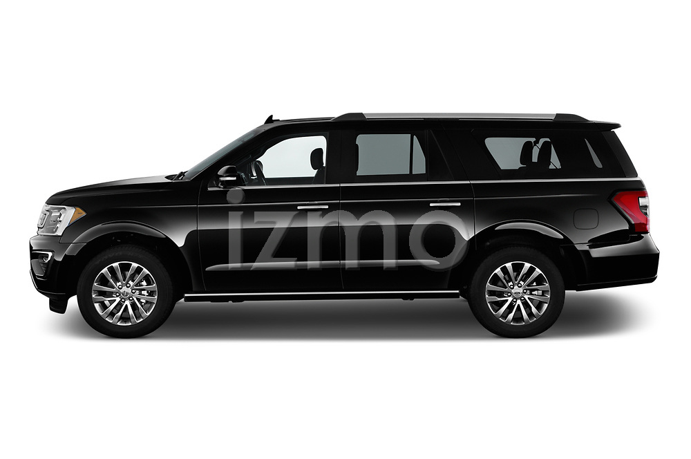 Car driver side profile view of a 2018 Ford Expedition XLT MAX 4x2 5 Door SUV