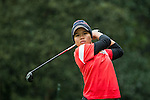 Kusuma Meecham of Thailand tees off at the 14th hole during Round 1 of the World Ladies Championship 2016 on 10 March 2016 at Mission Hills Olazabal Golf Course in Dongguan, China. Photo by Victor Fraile / Power Sport Images