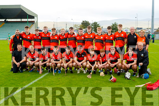 The Ballyheigue team before the Kerry County Minor Hurling Championship Final match between Ballyduff and Ballyheigue at Austin Stack Park in Tralee, Kerry.