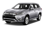 2020 Mitsubishi Outlander-PHEV Intense 5 Door SUV Angular Front automotive stock photos of front three quarter view