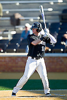 Conor Keniry (14) of the Wake Forest Demon Deacons at bat against the Youngstown State Penguins at Wake Forest Baseball Park on February 24, 2013 in Winston-Salem, North Carolina.  The Demon Deacons defeated the Penguins 6-5.  (Brian Westerholt/Four Seam Images)
