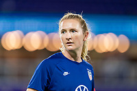 ORLANDO, FL - JANUARY 22: Samantha Mewis #3 of the USWNT warms up before a game between Colombia and USWNT at Exploria stadium on January 22, 2021 in Orlando, Florida.