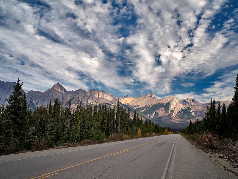 Road in Banff National Park, Alberta, Canada