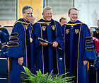 May 22, 2011; Lou Holtz receives an honorary degree at the 2011 Commencement ceremony...Photo by Matt Cashore/University of Notre Dame