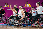 Rosalie Lalonde, Tamara Steeves, Cindy Ouellet, and Arinn Young, Lima 2019 - Wheelchair Basketball // Basketball en fauteuil roulant.<br />