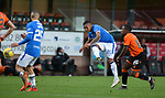 13.12.2020 Dundee Utd v Rangers: Alfredo Morelos with a shot wide of target