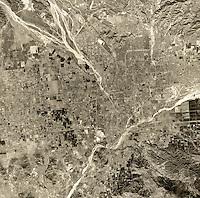 historical aerial photograph San Bernadino, 1967