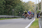 The peloton led by Groupama-FDJ in action during the 99th edition of Milan-Turin 2018, running 200km from Magenta Milan to Superga Basilica Turin, Italy. 10th October 2018.<br /> Picture: Eoin Clarke | Cyclefile<br /> <br /> <br /> All photos usage must carry mandatory copyright credit (© Cyclefile | Eoin Clarke)