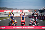 VALENCIA, SPAIN - NOVEMBER 11: Marc Marquez, Brad Binder, Johann Zarco during Valencia MotoGP 2016 at Ricardo Tormo Circuit on November 11, 2016 in Valencia, Spain