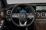 Car pictures of steering wheel view of a 2020 Mercedes Benz GLC-Coupe GLC300 5 Door SUV Steering Wheel