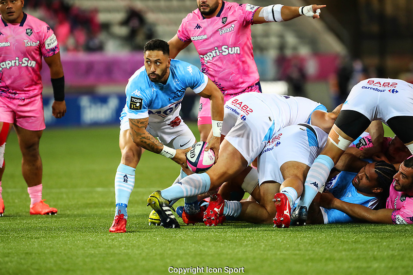 Michael RURU of Aviron Bayonnais during the Top 14 match between Stade Francais and Aviron Bayonnais at Stade Jean Bouin on October 02, 2020 in Paris, France. (Photo by Elliott Chouraqui/Icon Sport) - Stade Jean Bouin - Paris (France)