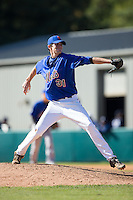 Britt Beatson (30) of Sumter High School in Sumter, South Carolina playing for the New York Mets scout team at the South Atlantic Border Battle at Doak Field on November 2, 2014.  (Brian Westerholt/Four Seam Images)