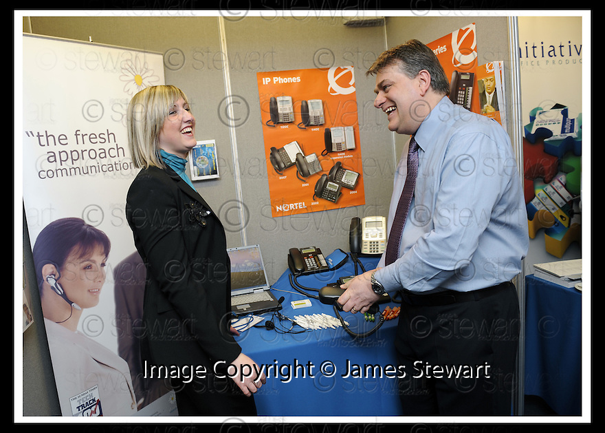30/04/2008   Copyright Pic: James Stewart.File Name : 04_business_fair.FALKIRK BUSINESS FAIR 2008.INTELLIA TELEPHONE SYSTEMS.James Stewart Photo Agency 19 Carronlea Drive, Falkirk. FK2 8DN      Vat Reg No. 607 6932 25.Studio      : +44 (0)1324 611191 .Mobile      : +44 (0)7721 416997.E-mail  :  jim@jspa.co.uk.If you require further information then contact Jim Stewart on any of the numbers above........