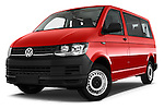 Stock pictures of low aggressive front three quarter view of 2016 Volkswagen Transporter - 5 Door Passenger Van Low Aggressive