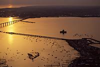 Europe/France/Poitou-Charentes/17/Charente-Maritime/Ile d'Oléron: Le fort du Chapus (fort Louvois) et le pont d'Oléron, Vue aérienne