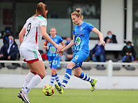 Heleen Jaques (4) of AA Gent in action during a female soccer game between Oud Heverlee Leuven and AA Gent Ladies on the 9 th matchday of play off 1 in the 2020 - 2021 season of Belgian Womens Super League , saturday 22 nd of May 2021  in Heverlee , Belgium . PHOTO SPORTPIX.BE   SPP   SEVIL OKTEM