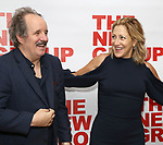 """John Pankow and Edie Falco attends the New Group World Premiere of """"The True"""" on September 20, 2018 at The Green Fig Urban Eatery in New York City."""