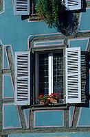 Europe/France/Alsace/68/Haut-Rhin/Colmar : La petite venise - Détail fenêtre